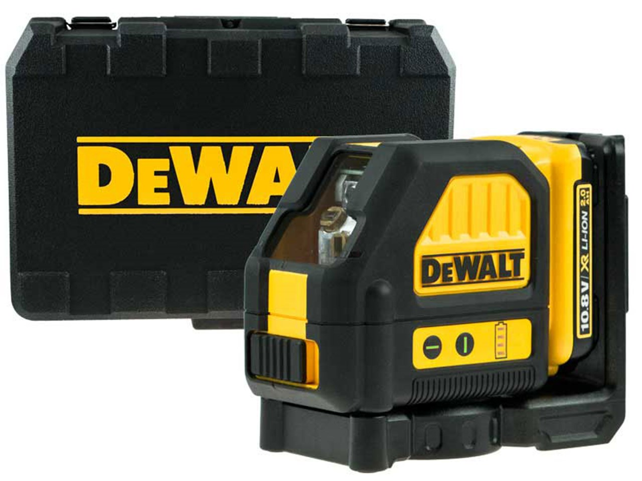 Dewalt Dew088d1g 10 8v 2 0ah Li Ion Self Level Cross Line