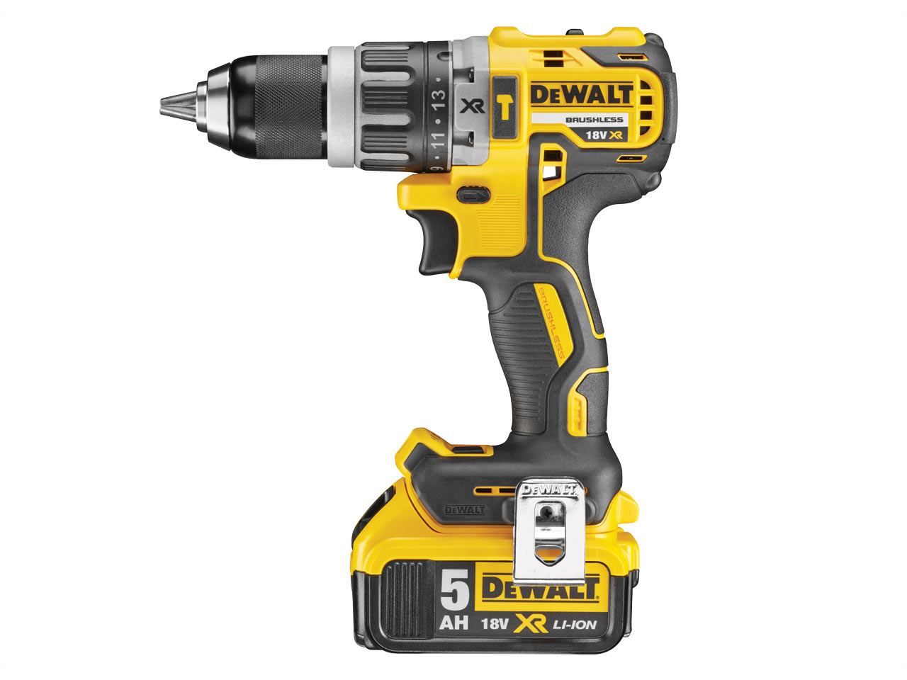 Dewalt DCD796P2 18V XR Brushless Combi Drill with 2x 5.0Ah