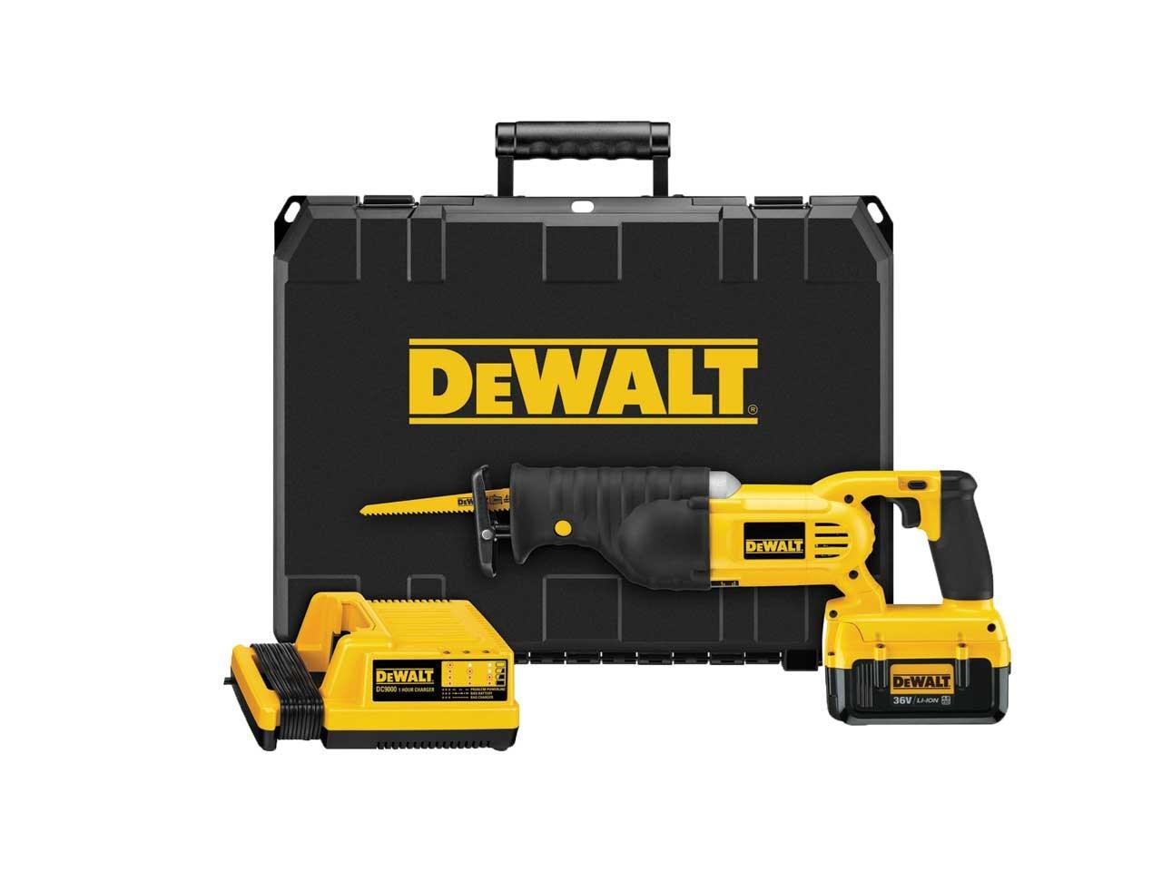Dewalt dc305m2 36v reciprocating saw kit box 2 x 40ah li ion greentooth Choice Image