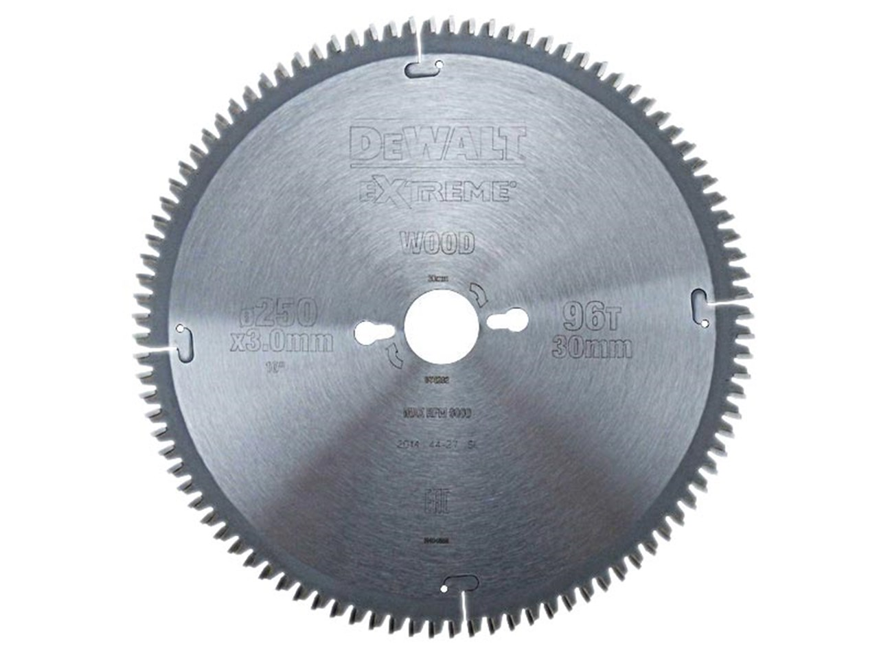Dewalt dt4282 250mm x 30 x 96t extreme mitre saw blade greentooth Images
