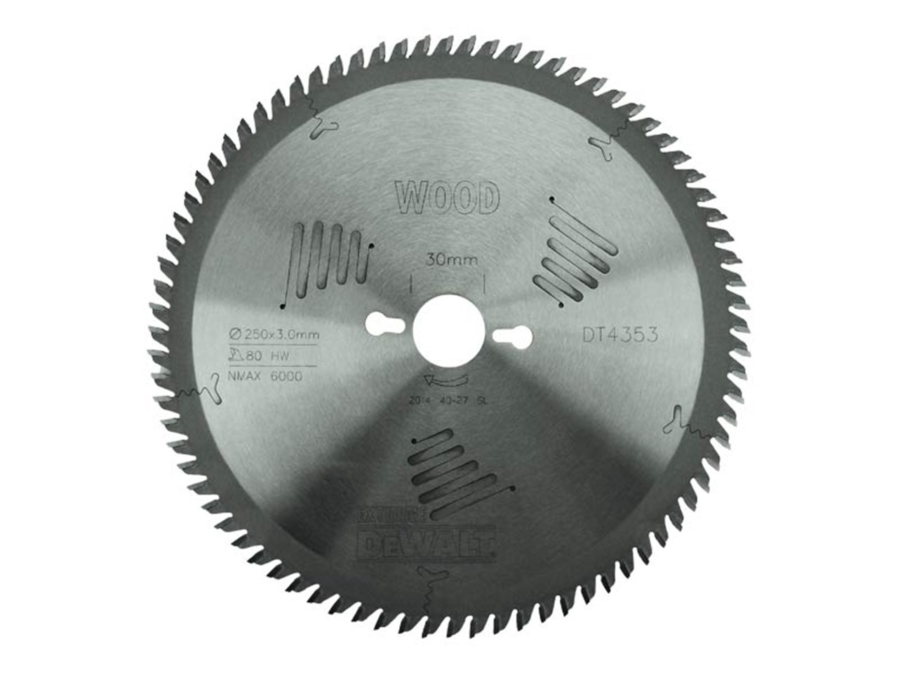 Dewalt dt4353 qz 250mm x 30mm x 80t extreme circular saw blade greentooth Choice Image