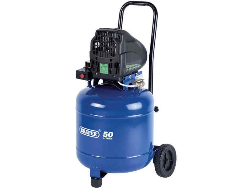 Draper da50 1850v 230v 1 1kw 50l sans huile - Compresseur vertical 50l ...