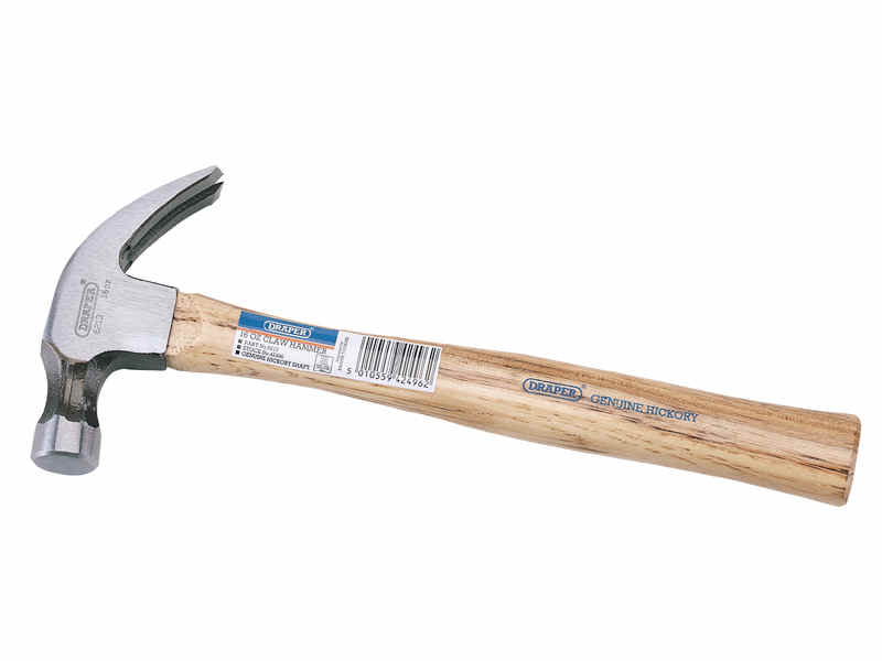 Draper 450g 16oz Hickory Shaft Claw Hammer 42496