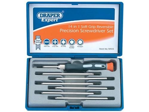 draper pss14r expert 8 piece reversible precision screwdriver set ebay. Black Bedroom Furniture Sets. Home Design Ideas