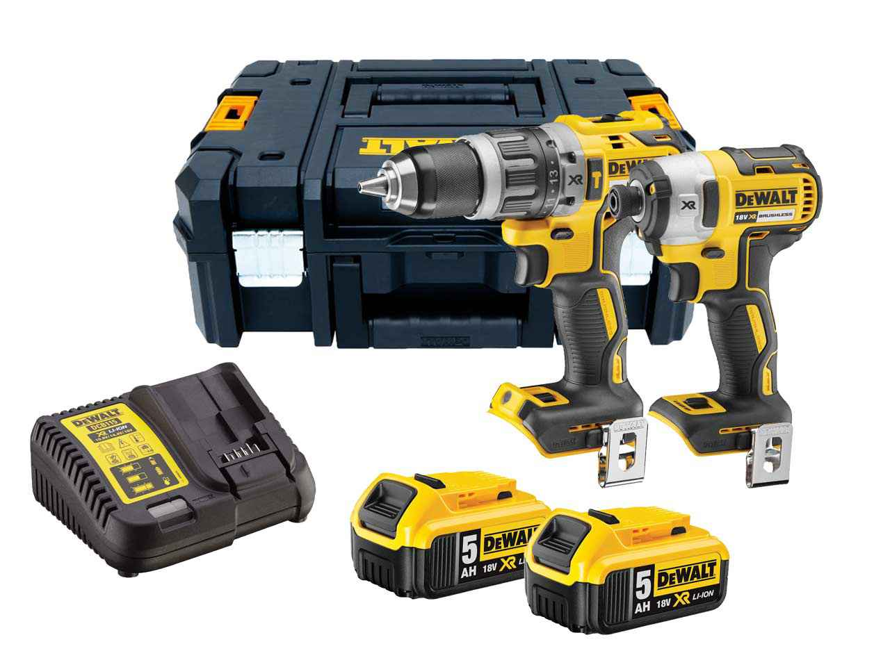 dewalt dck266p2 gb xr 18v brushless ia combi impact kit. Black Bedroom Furniture Sets. Home Design Ideas