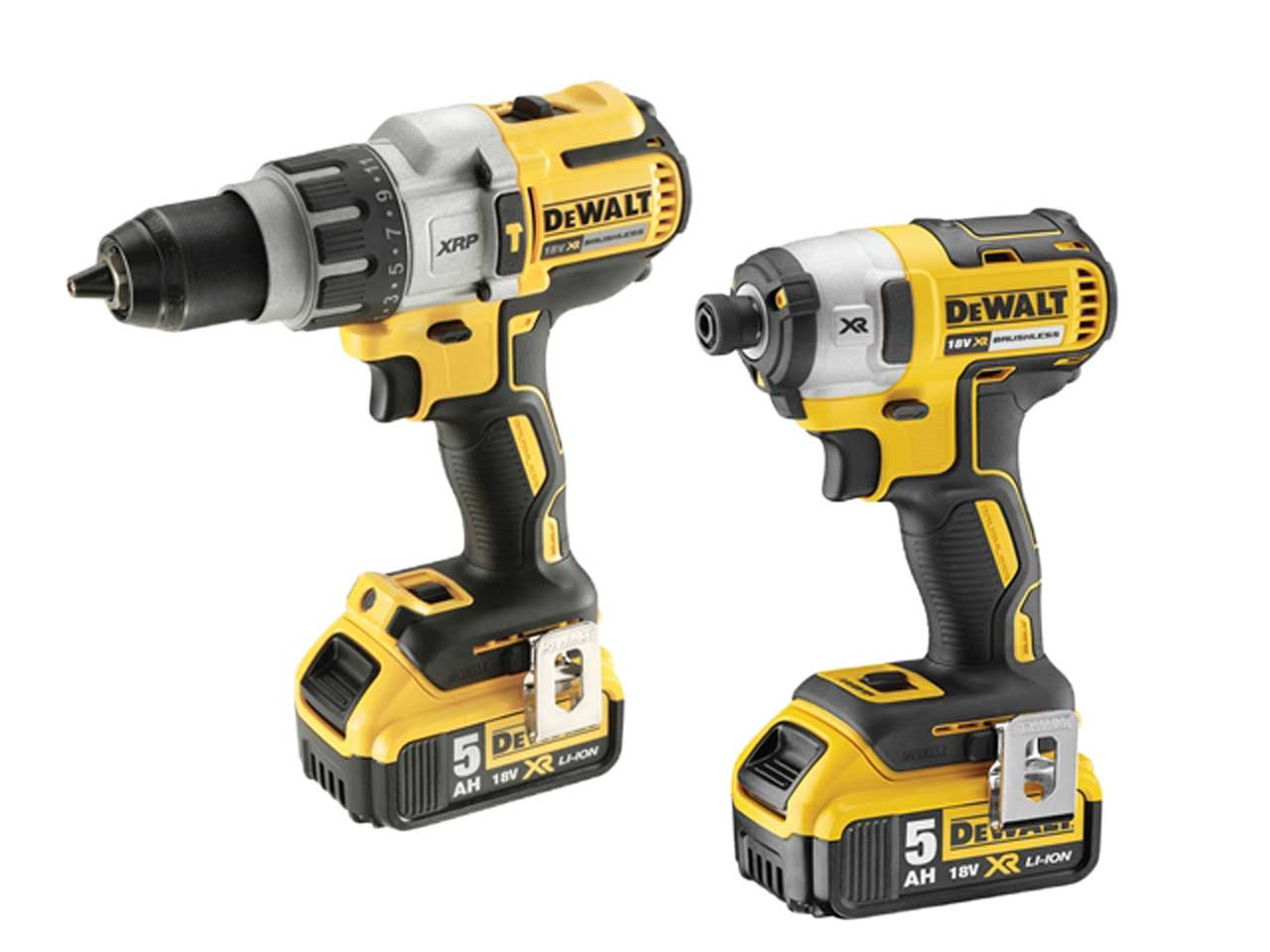 dewalt dck276p2 18v 2 x 5 0ah li ion brushless twin pack. Black Bedroom Furniture Sets. Home Design Ideas
