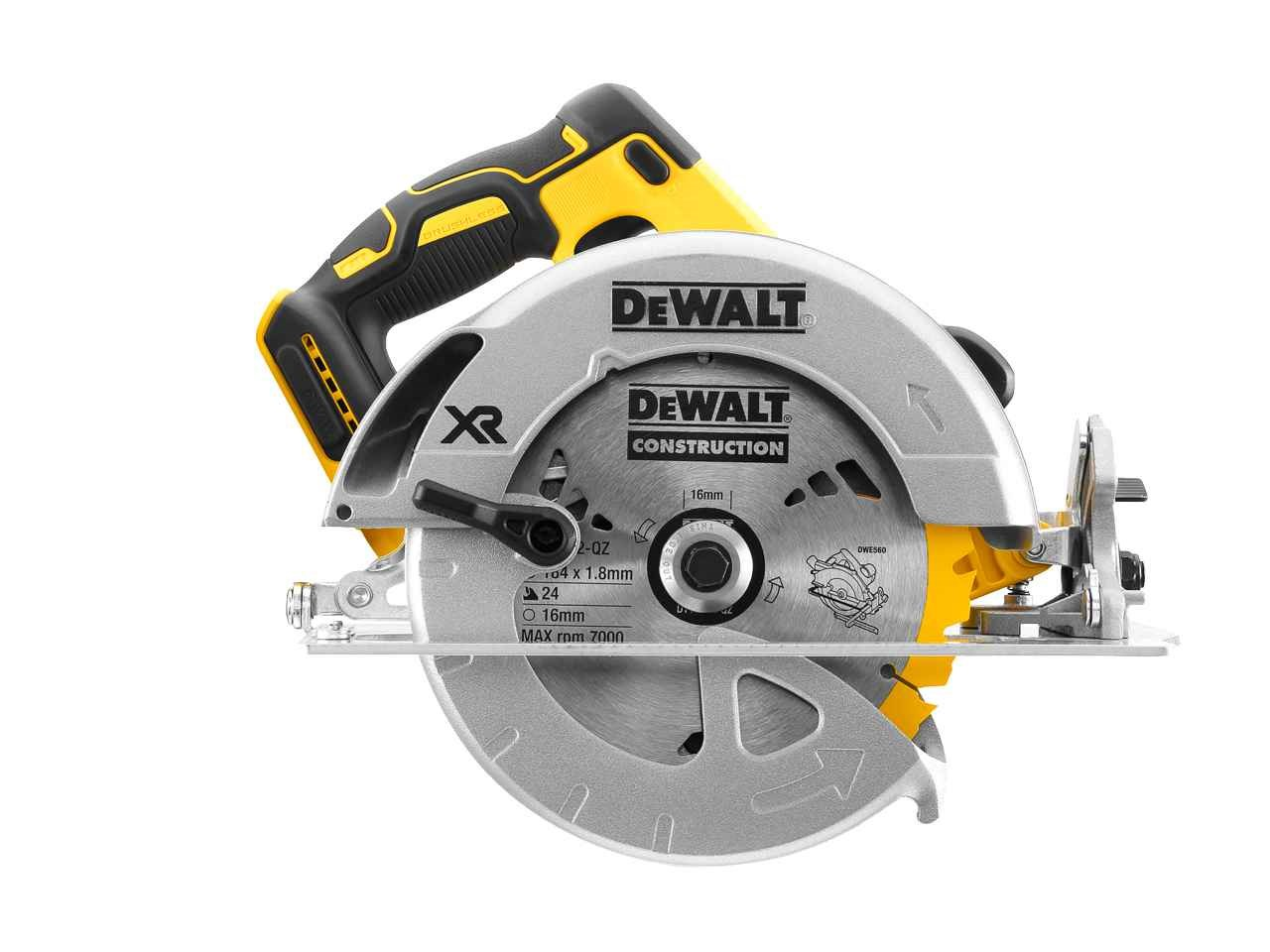Dewalt dcs570n 18v xr brushless 184mm circular saw bare unit greentooth Choice Image