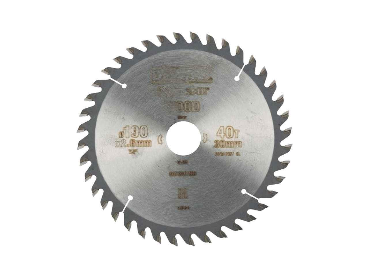 Dewalt dt4064 qz 190x30mm extreme circular saw blade greentooth Choice Image