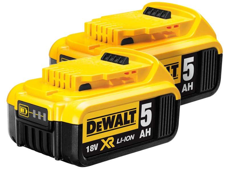 Genuine dewalt dcb184 18v xr li ion battery twin for Avantage batterie lithium ion