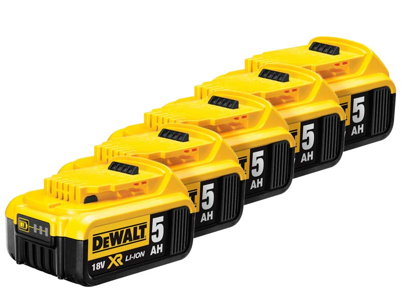 Genuine Dewalt Dcb184 18v 5 0ah Xr Li Ion Battery Pack Of