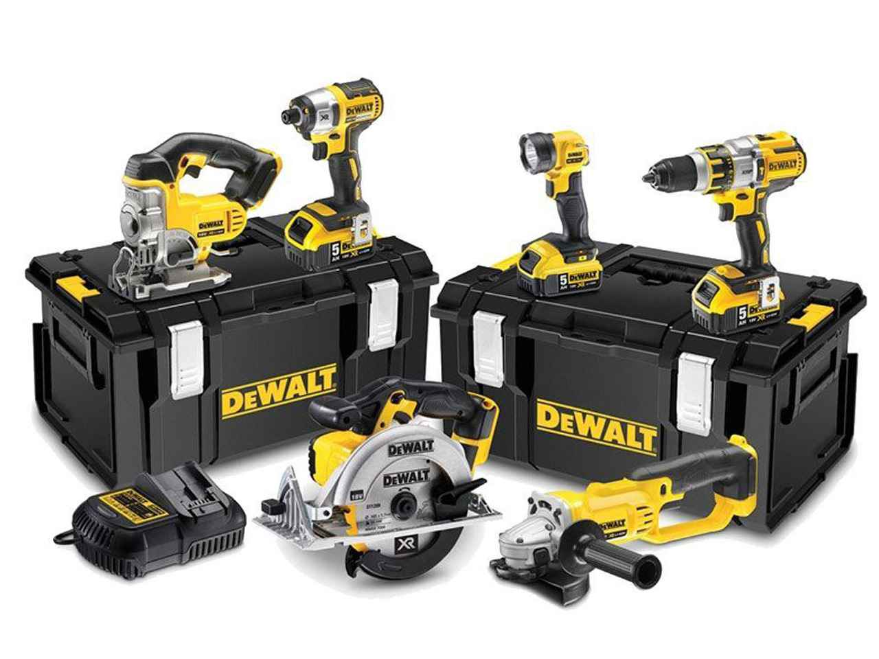 Dewalt Dck694p3 18v Cordless 6pc Kit 3 X 5 0ah Li Ion