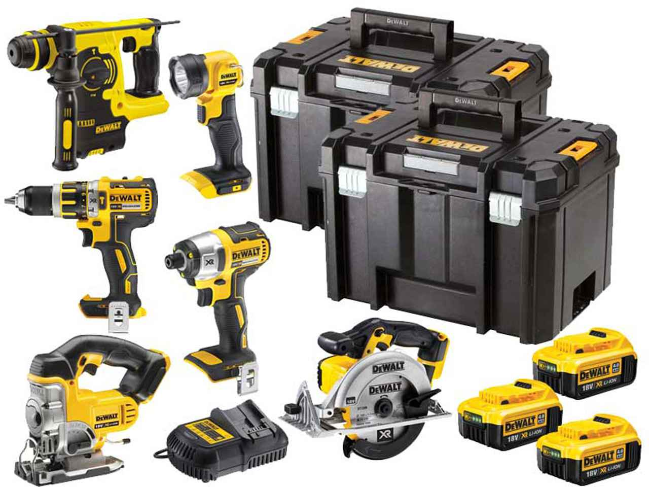 dewalt dck699m3t 18v xr cordless li ion 6 piece power tool. Black Bedroom Furniture Sets. Home Design Ideas