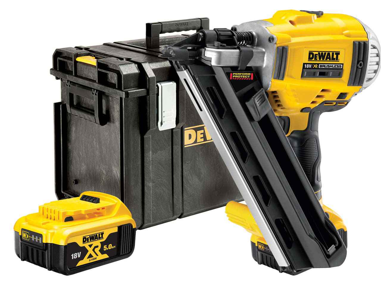 DeWalt DCN692P2 18v 2x5.0 Li-ion Brushless XR Nail Gun Kit