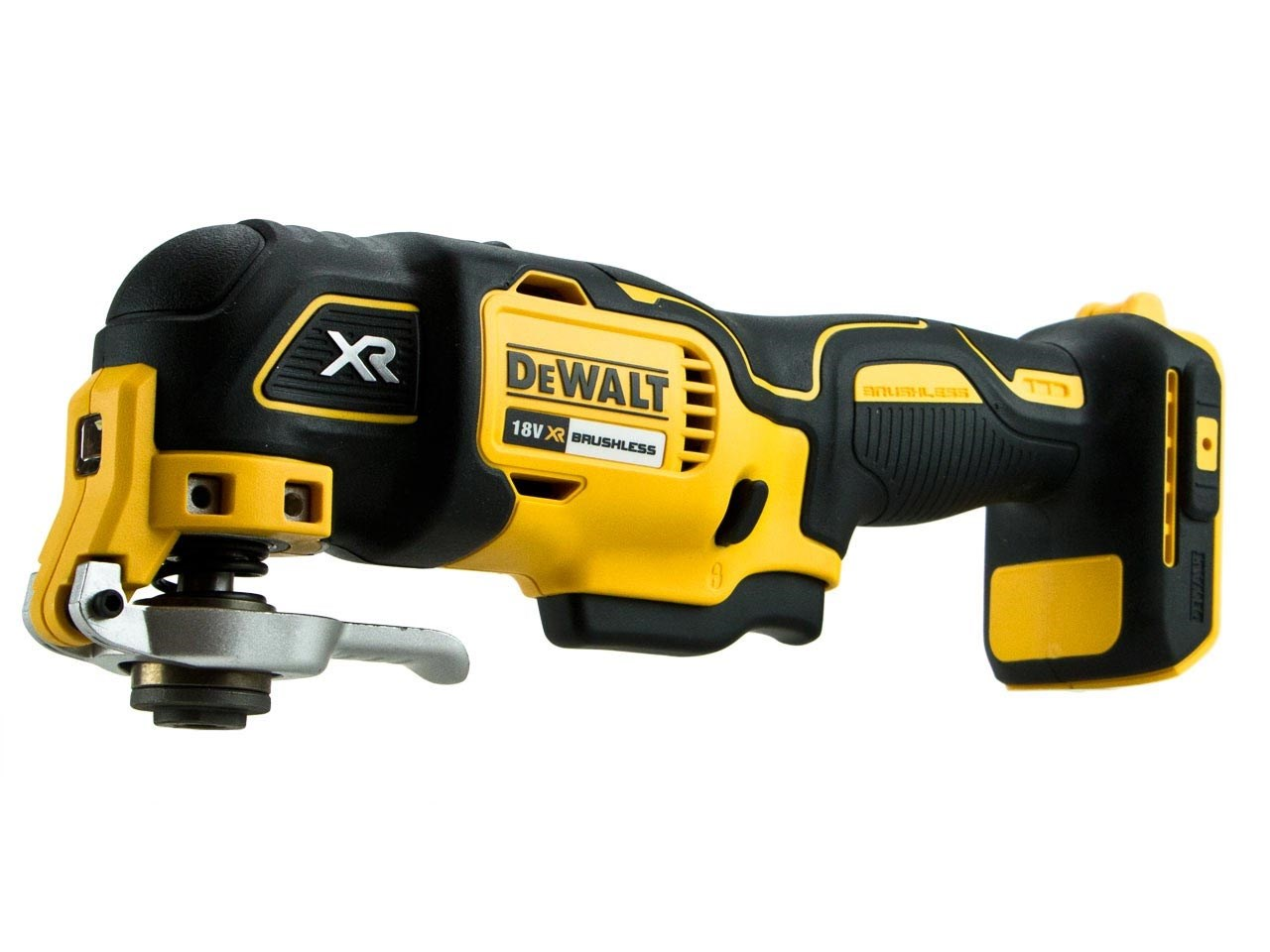 """The following are trademarks for one or more DEWALT power tools, accessories, anchors and concrete adhesives: The yellow and black color scheme; the """"D""""-shaped air intake grill; the array of pyramids on the handgrip; the kit box configuration; and the array of lozenge-shaped humps on the surface of the tool."""