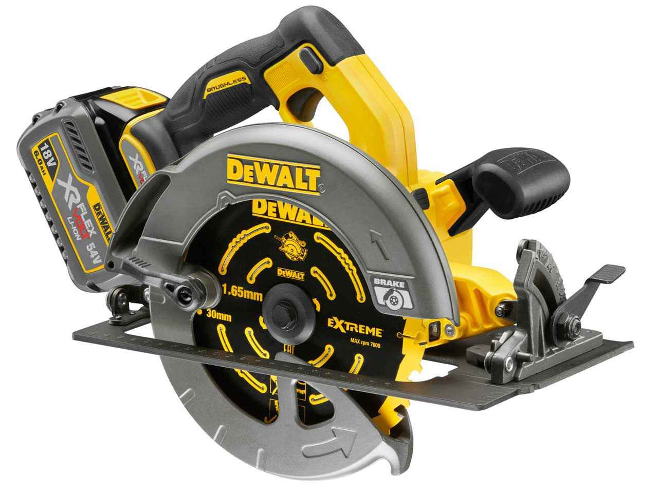 Dewalt dcs575t2 54v xr 2x60ah li ion flexvolt 190mm circular saw keyboard keysfo