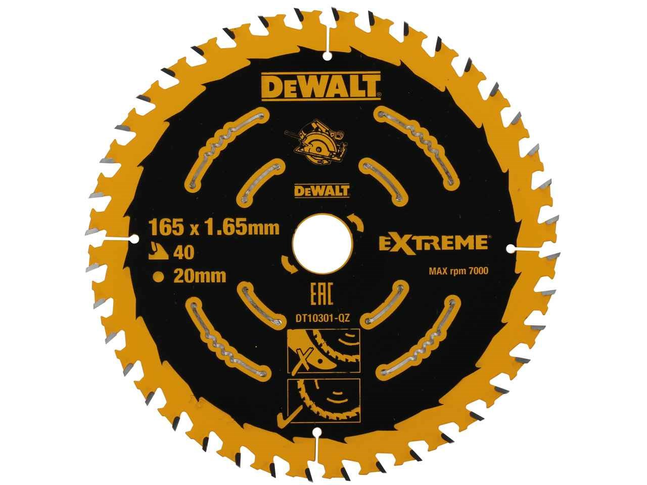 Dewalt dt10301 165mm 40t extreme framing circular saw blade greentooth Choice Image
