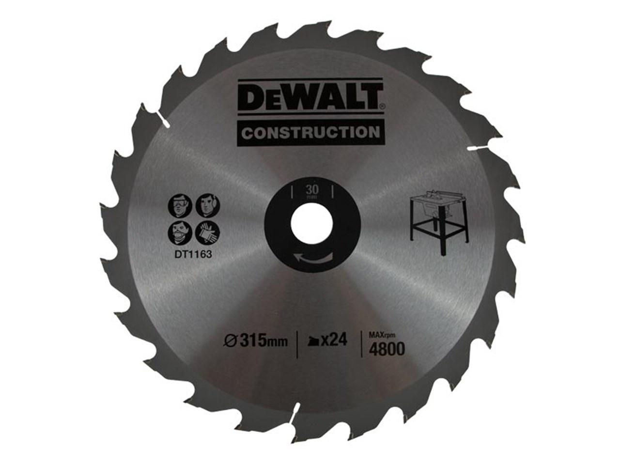 Dewalt dt1961qz construction circular saw blade 315x30mm 24t keyboard keysfo Gallery