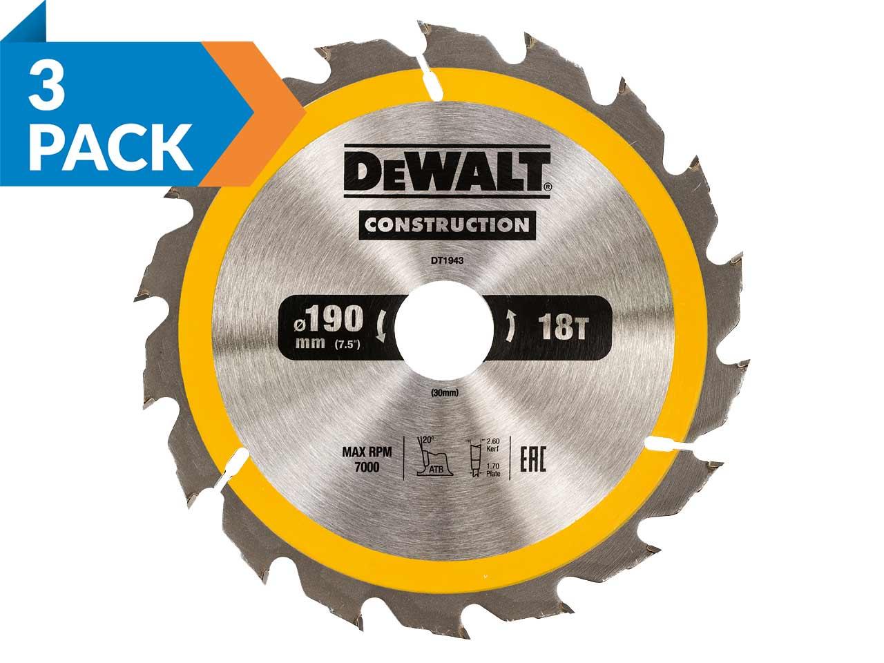 Irwin 1897394 Weldtec Cordless Circular Saw Blade 165 x 20mm x 40T