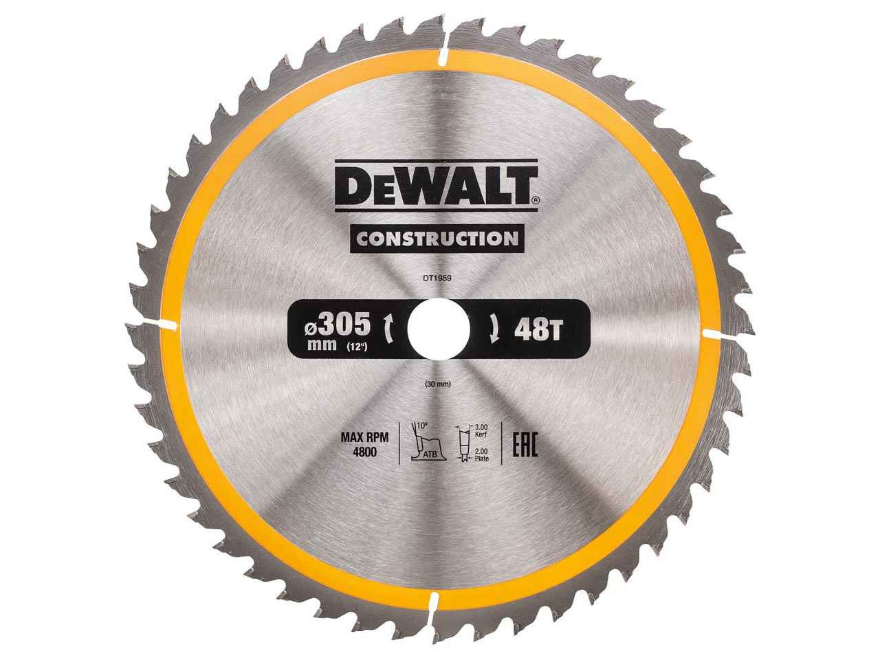 Dewalt dt1959qz construction circular saw blade 305x30mm 48t keyboard keysfo Images