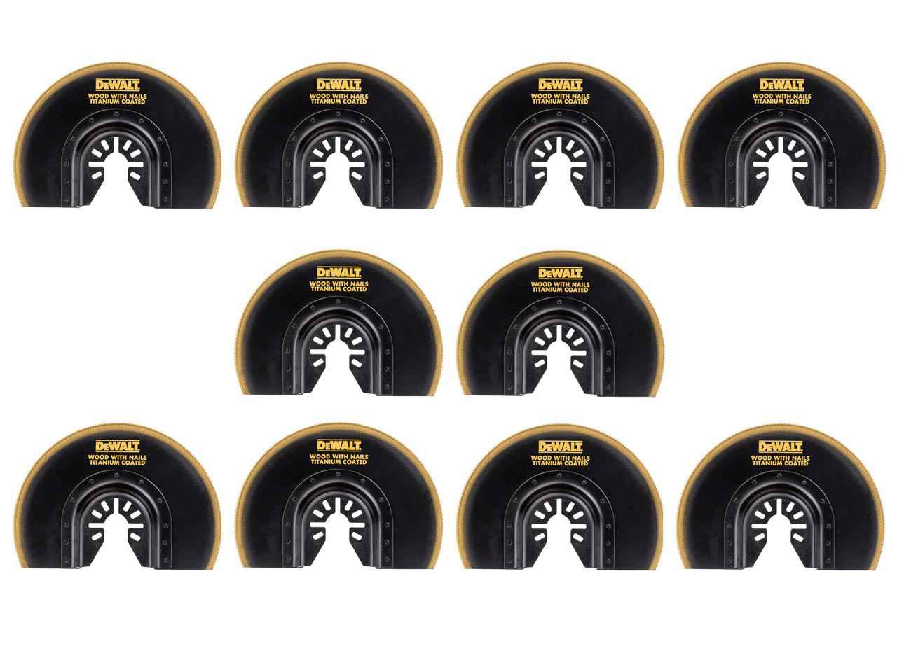 DeWalt DT20711x10 Pack of 10 Multi Tool Titanium Flush Cut Blade 100mm
