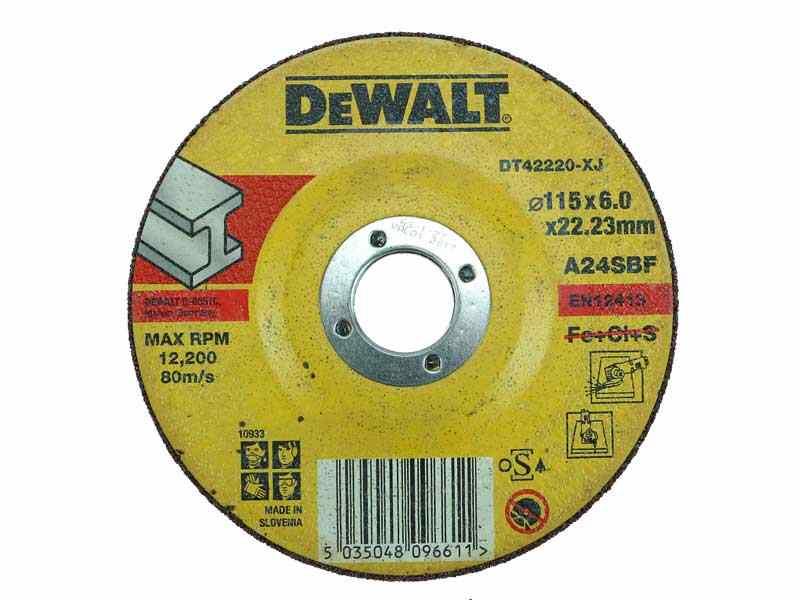 Dewalt DT30621 Extreme Flat Disc 115 mm x 22.2 mm x 80 g