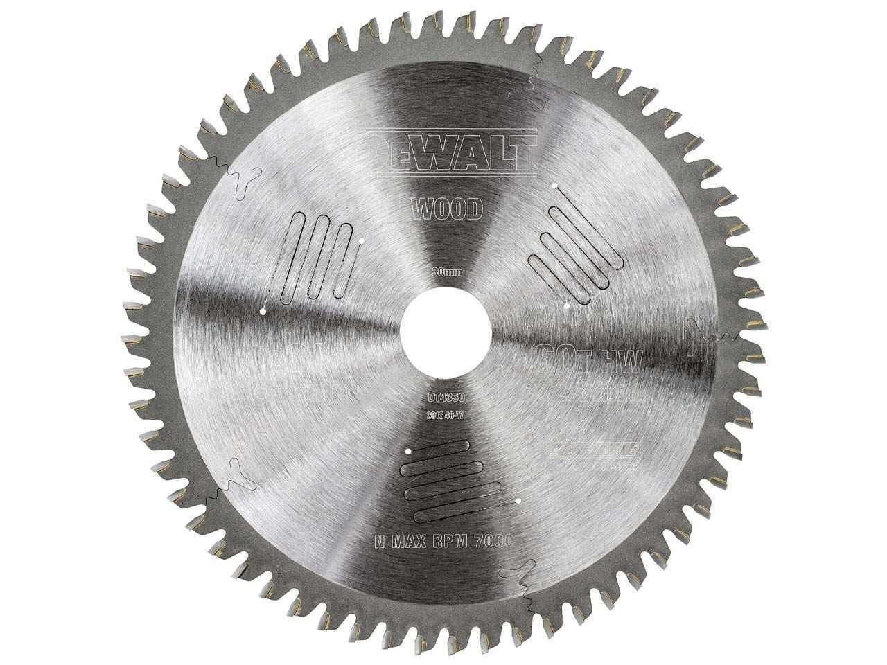Dewalt dt4350 qz extreme circular saw blade 216 x 30 x 60t greentooth Choice Image