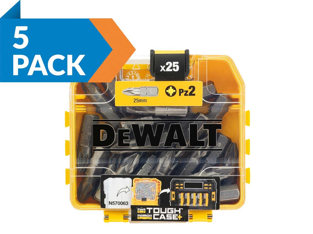 Dewalt DT70556T-QZ PZ2 25 mm Impact Extrême Driver Torsion Bit Tic Tac 25pc