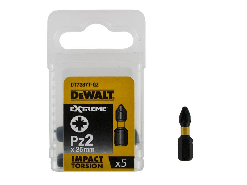 DeWALT PH2 Extreme Impact Torsion Pozi 2 Screwdriver Bits 25m fits IMPACT DRIVER