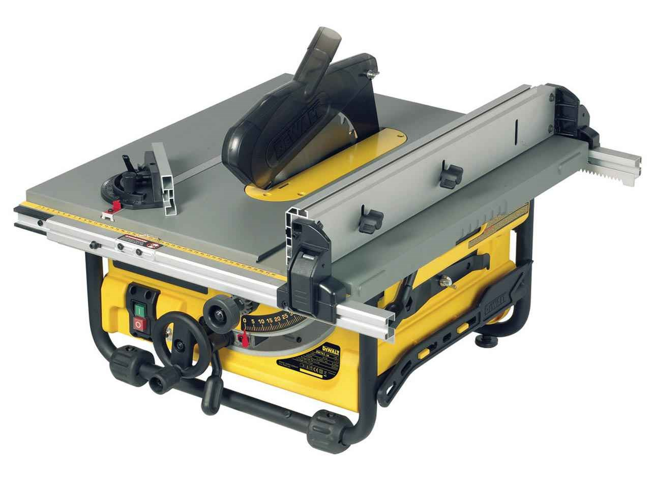 Dewalt dw745 230v portable site table saw greentooth