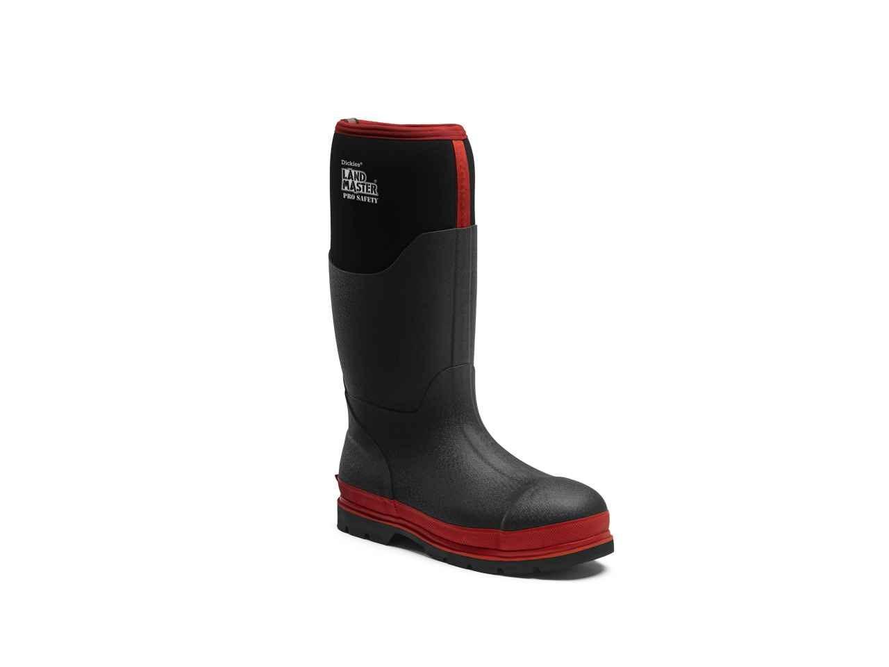 634d0f115b8 Dickies FW9902 Landmaster Pro Safety Wellington Black/Red Size 10