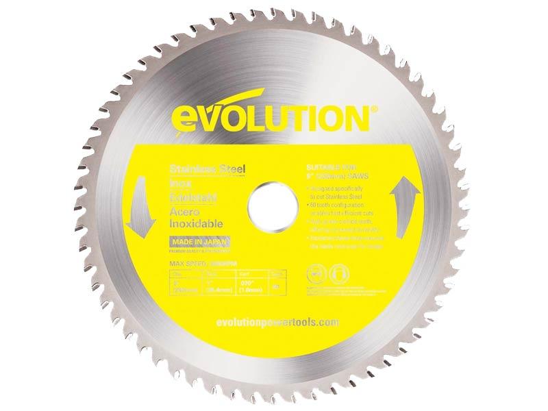 Evolution EVOBLADESS 180mm TCT Stainless Steel Inox Cutting Saw Blade