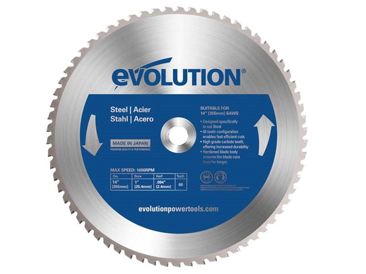 Evolution 66TBlade 355mm 66T TCT Steel Cutting Blade