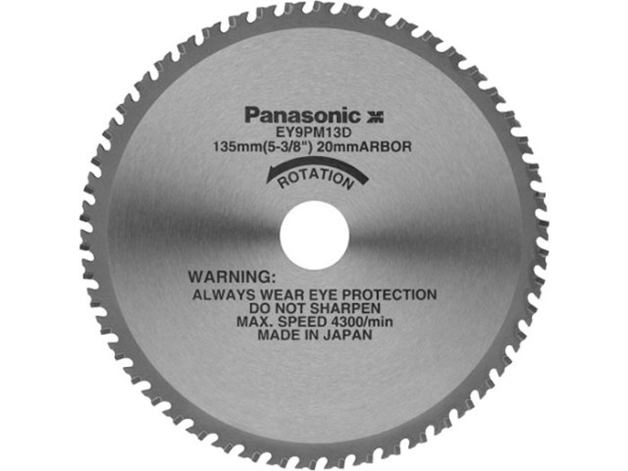 Panasonic ey9pm13f 135mm circular saw blade for metal 50t greentooth Image collections