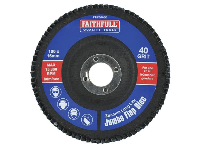 Sealey FW603080 Flap Wheel /Ø60 x 30mm 80Grit 6mm Shaft
