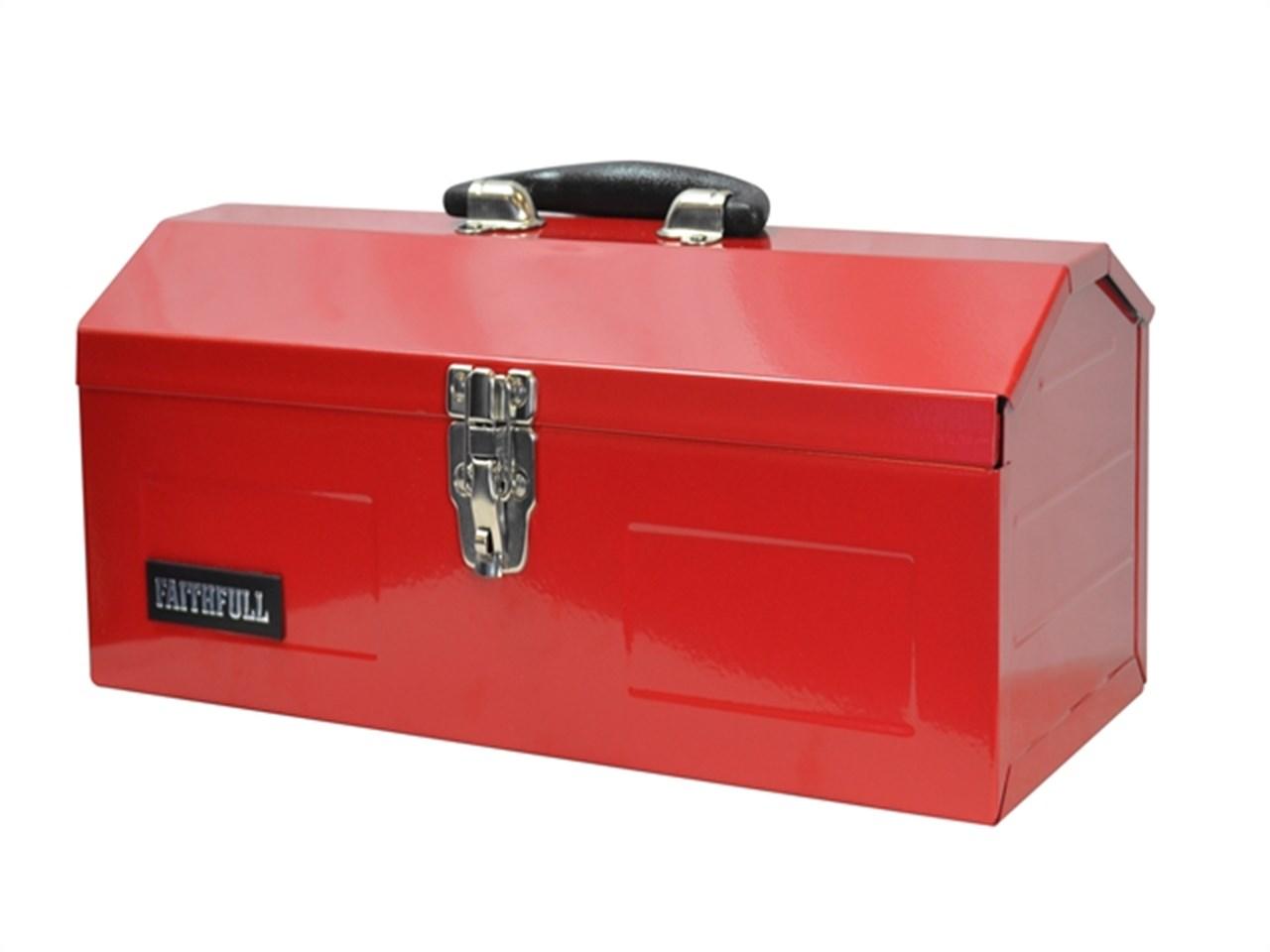 faithfull faitbb16 metal barn tool box 42cm 16in