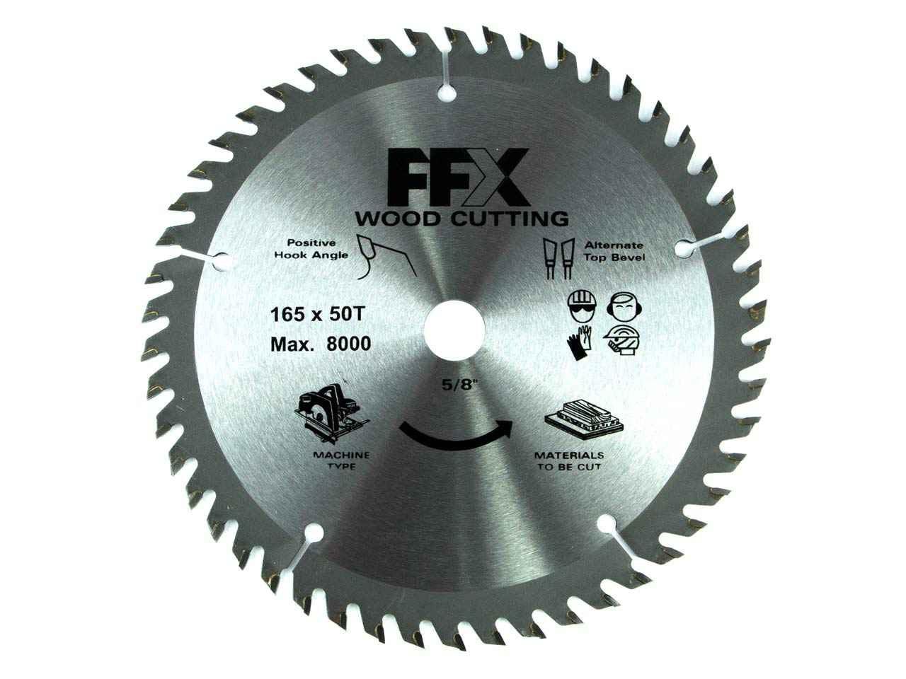 Ffx qq0102500250 165mm x 50t x 16mm tct circular saw blade greentooth Image collections