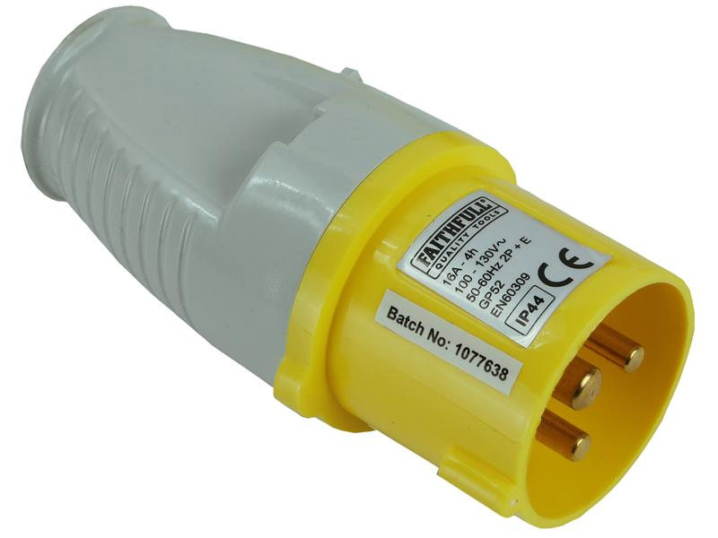 Faithfull Yellow Plug 32 Amp 110 Volt