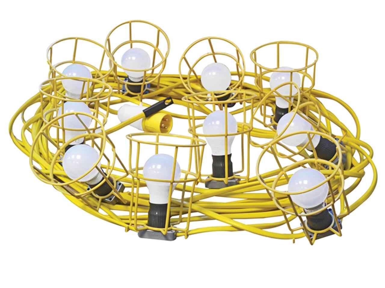 Faithfull Power Plus FPPSLFESTOON Festoon Lights 10 ES Ampoules 110 V 22 m