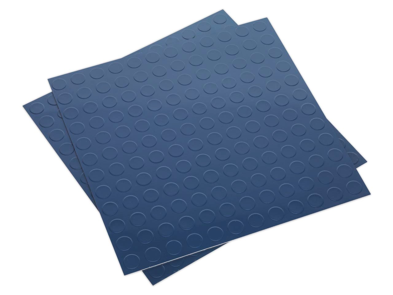 Sealey FT2B Vinyl Floor Tile with Peel & Stick Backing - Blue Coin ...