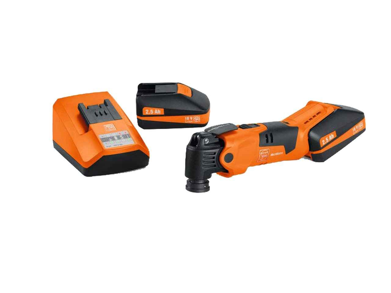 Fein AFMM18QSL 18v Cordless MultiMaster with 2 x 2 5Ah Li-Ion Battery