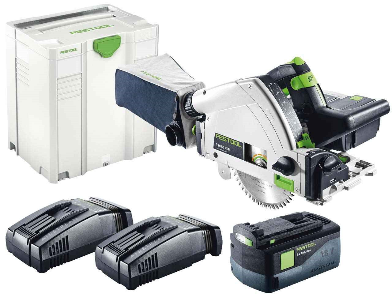 festool tsc 55 li 5 2 reb plus xl sca gb 18v cordless plunge cut saw in systainer 5. Black Bedroom Furniture Sets. Home Design Ideas