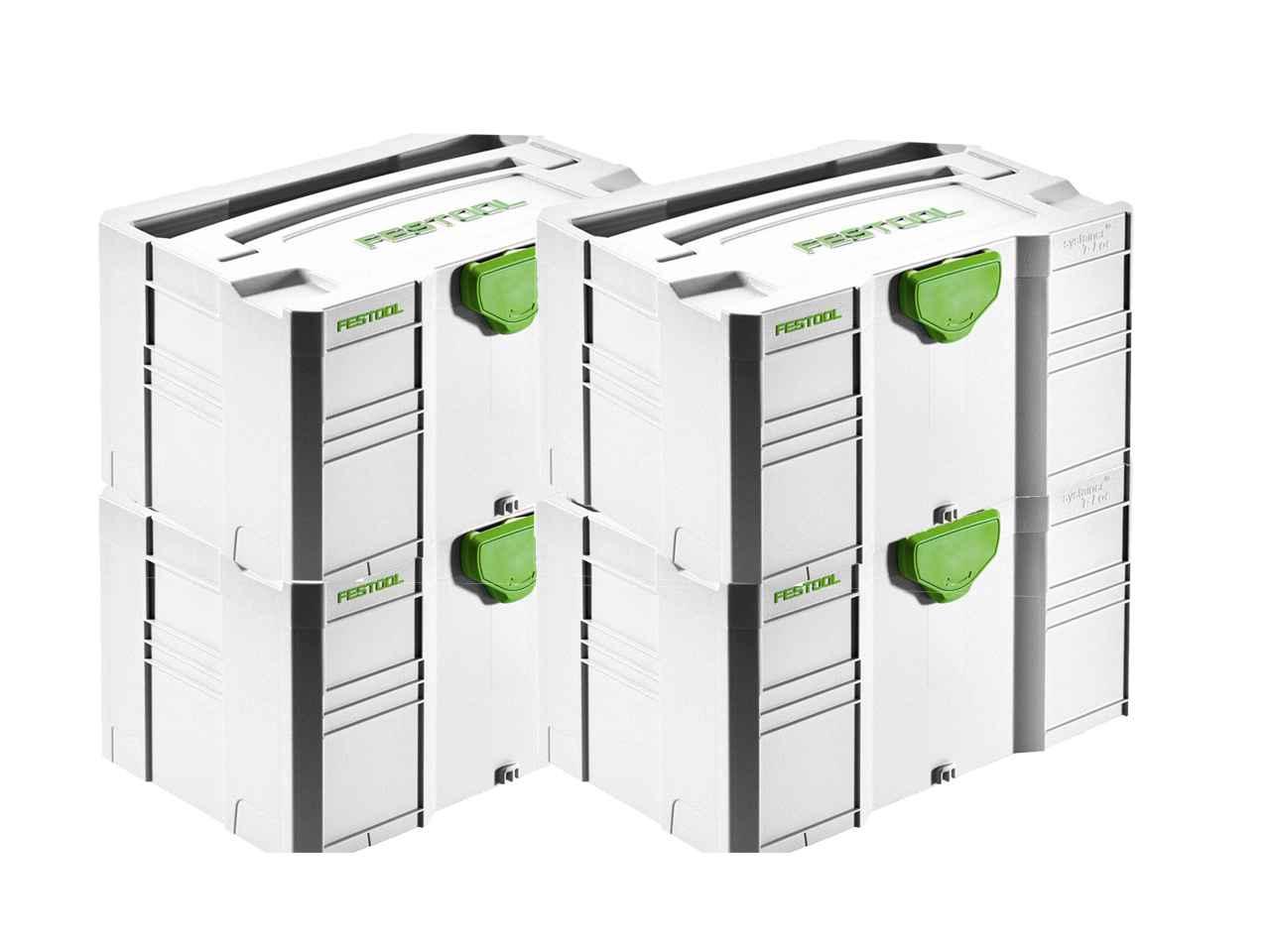 Festool SYS-MINI 3 TL4 MINI-SYSTAINER T-LOC 4pk 202544