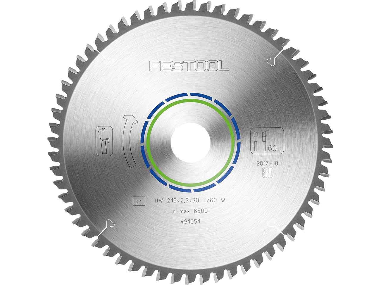 225mm x 30mm W48 48teeth Festool 488289 Fine tooth saw blade
