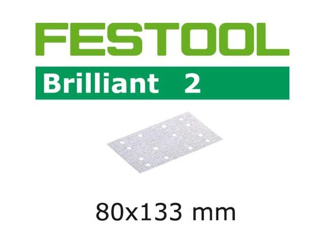 Festool 496586 P60 Grit Brilliant 2 Abrasives Pack of 50