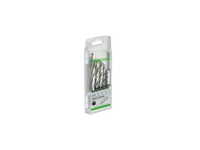 Festool Drill Bit Case BKS D 3-8 CE//W 5 x Centrotec wood drill bits 493648