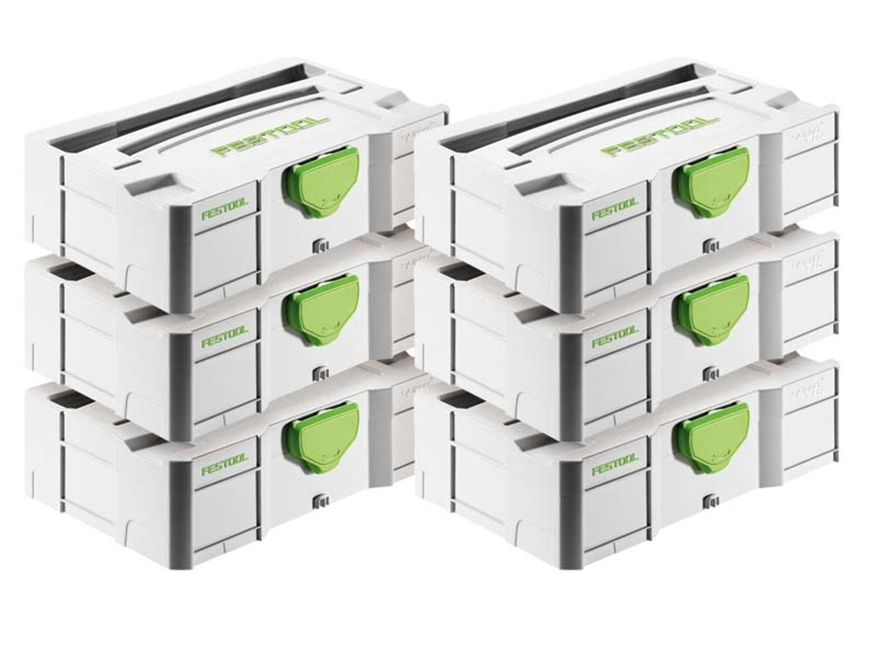 festool sys mini tl6 6pk mini systainer t loc storage cases. Black Bedroom Furniture Sets. Home Design Ideas