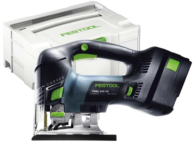 festool psbc 420 eb li 18 set 18v carvex handle pendulum jigsaw 5 2ah. Black Bedroom Furniture Sets. Home Design Ideas