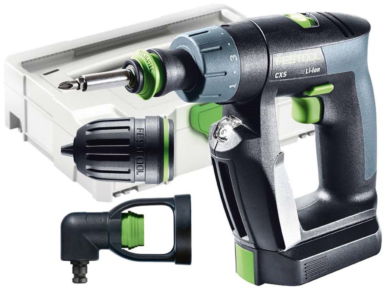 festool cxs li 2 6 set cordless drill 2 x 2 6ah in systainer. Black Bedroom Furniture Sets. Home Design Ideas