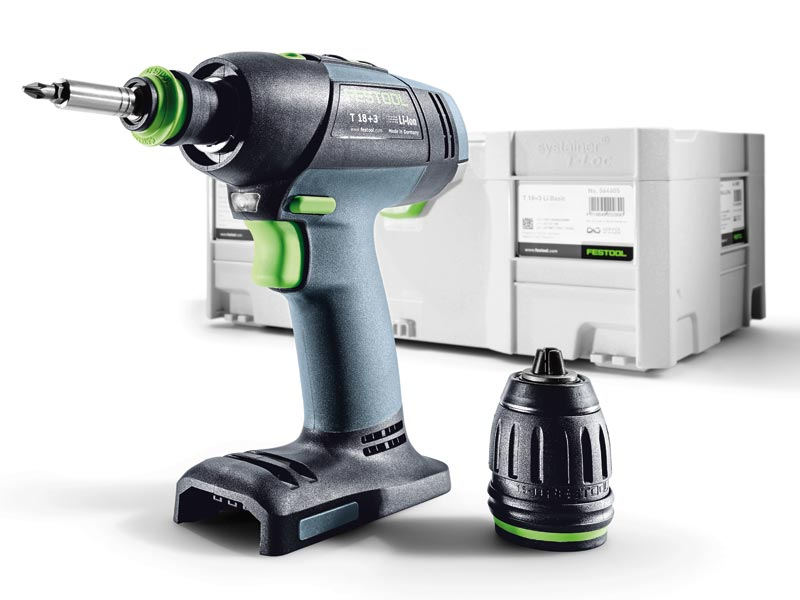 festool t18 3 li basic 18v cordless drill bare unit sys 2 t loc. Black Bedroom Furniture Sets. Home Design Ideas