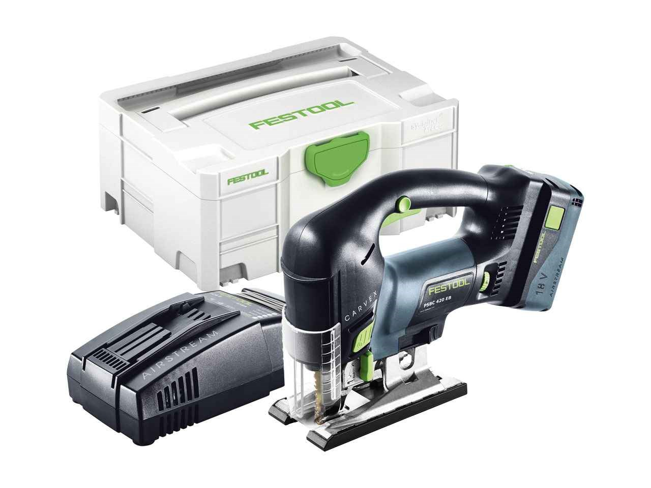 festool psbc 420 li 5 2 eb set 18v li ion pendulum jigsaw accs systainer. Black Bedroom Furniture Sets. Home Design Ideas